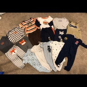 16 piece lot of baby boy clothing size 9 months